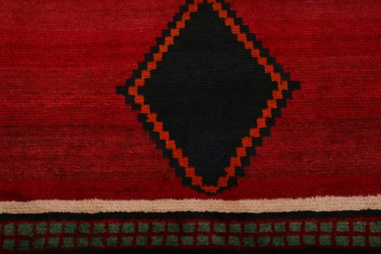 Hand-knotted Antique Gabbeh Rug