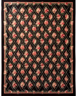 Contemporary Needlepoint Rug European Floral