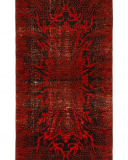 Red Art Deco Rug