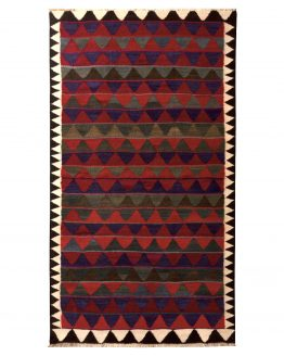 Vintage Red Kurdish Persian Kilim