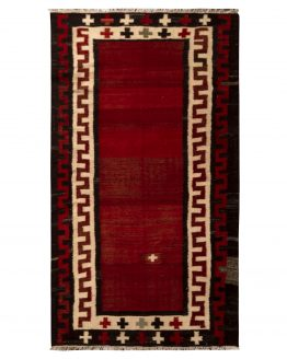 Vintage Red Bidjar Persian Kilim