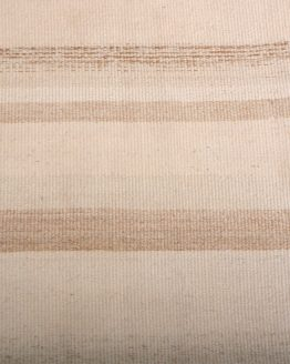 Vintage Kilim Beige Brown Striped Pattern